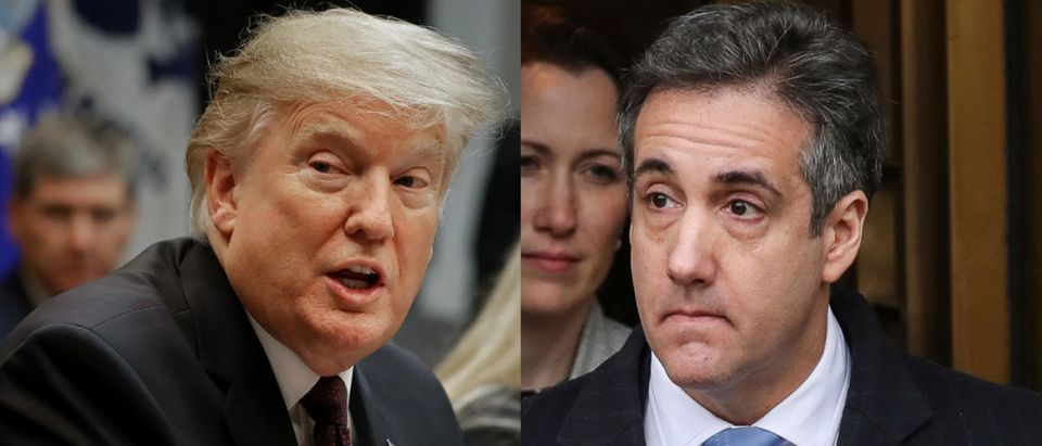 President Donald Trump went on the attack against his former personal lawyer Michael Cohen Jan. 24, 2019. Chip Somodevilla/Getty Images and Drew Angerer/Getty Images