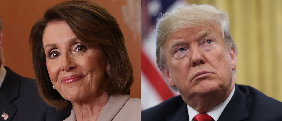 House Speaker Nancy Pelosi and President Donald Trump are in a stalemate over the government shutdown. Chip Somodevilla/Getty Images and Justin Sullivan/Getty Images