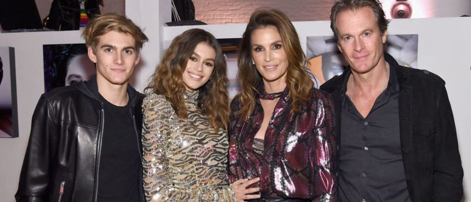 Presley Gerber, Kaia Gerber, Cindy Crawford and Rande Gerber attend Marc Jacobs Beauty Celebrates Kaia Gerber on February 15, 2017 in New York City. (Photo by Jamie McCarthy/Getty Images for Marc Jacobs)