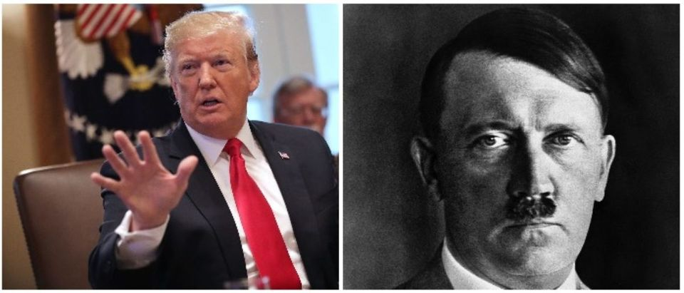 Donald Trump and Hitler (LEFT: Chip Somodevilla/Getty Images RIGHT: /AFP/Getty Images)