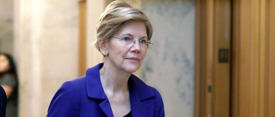 FILE PHOTO: U.S. Senator Warren arrives for procedural vote on Kavanaugh nomination on Capitol Hill in Washington