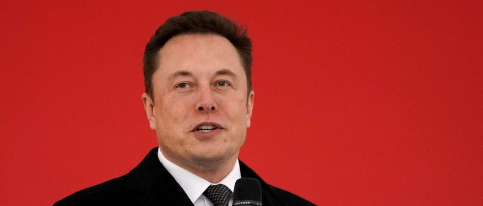 Tesla CEO Elon Musk attends the Tesla Shanghai Gigafactory groundbreaking ceremony in Shanghai, China, Jan. 7, 2019. REUTERS/Aly Song