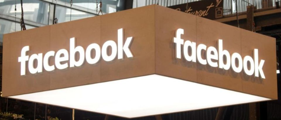 FILE PHOTO: The logo of Facebook is pictured during the Viva Tech start-up and technology summit in Paris, France, May 25, 2018. REUTERS/Charles Platiau/File Photo