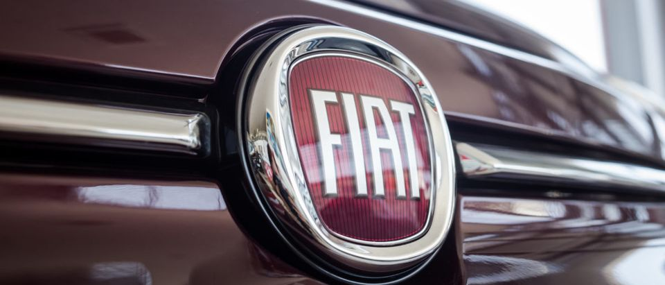 Pictured is the logo of the brand FIAT. Shutterstock