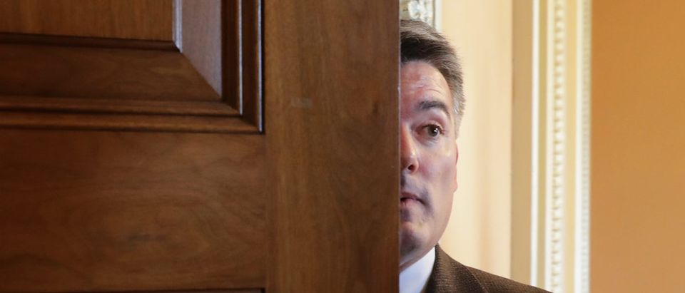 Sen. Cory Gardner heads into a Republican caucus lunch meeting at the U.S. Capitol December 21, 2018 in Washington, DC. (Photo by Chip Somodevilla/Getty Images)