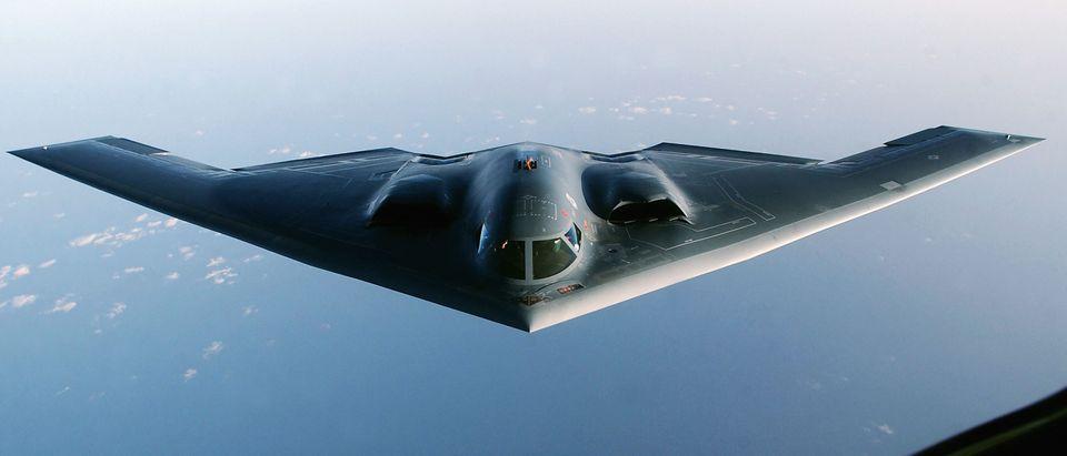 A B-2 Spirirt Stealth Bomber In Flight