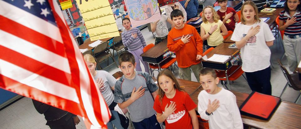 Students Pledge Allegiance To The Flag In Pennsylvania