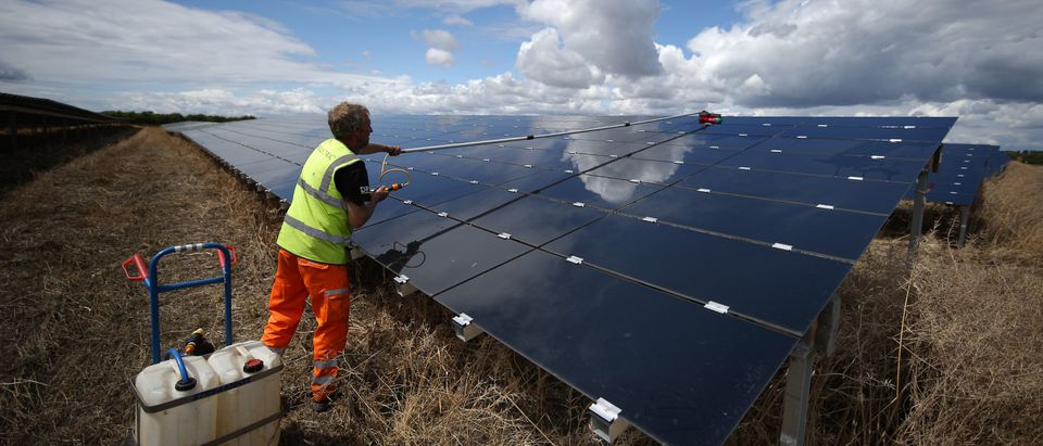 Cleaning Takes Place At Landmead Solar Farm
