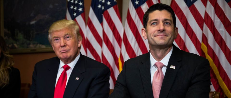 President-Elect Trump And Vice President-Elect Pence Meet With House Speaker Paul Ryan On Capitol Hill