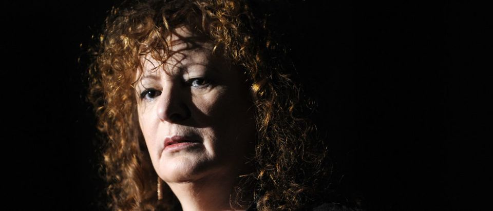 "US photographer Nan Goldin addresses a press conference during the presentation to the press of her exhibition ""Poste Restante, Slideshows/Grids"" in Berlin October 9, 2009. (JOHN MACDOUGALL/AFP/Getty Images)"