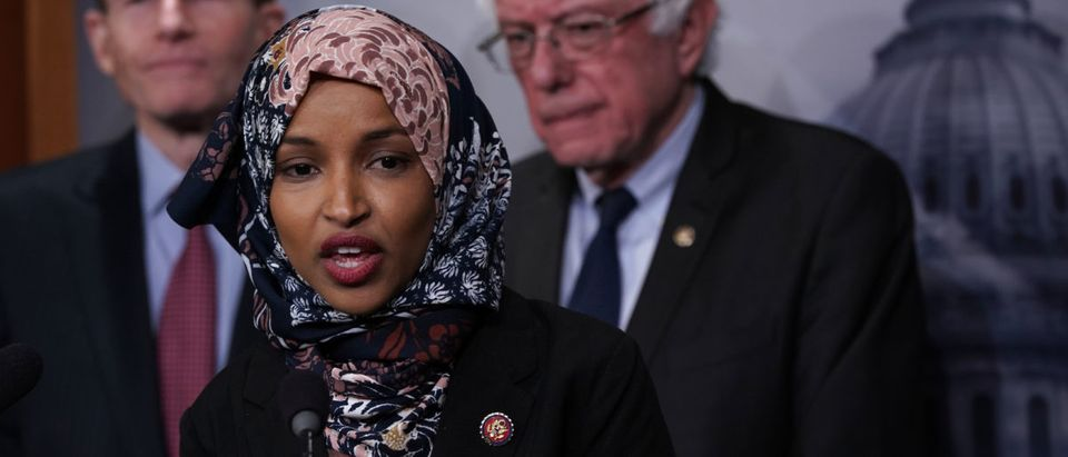 Democratic Minnesota Rep. Ilhan Omar continued to promulgate a debunked narrative on Tuesday by misrepresenting an incident between Catholic high school boys, black supremacists and American Indian activists. (Alex Wong/Getty Images)