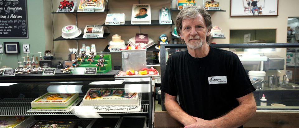 Baker Jack Phillips poses in his Masterpiece Cakeshop in Lakewood, Colorado September 21, 2017. REUTERS/Rick Wilking