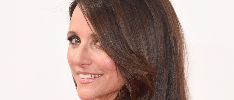 Julia Louis-Dreyfus attends the 66th Annual Primetime Emmy Awards held at Nokia Theatre L.A. Live on August 25, 2014 in Los Angeles, California.(Photo by Jason Merritt/Getty Images)