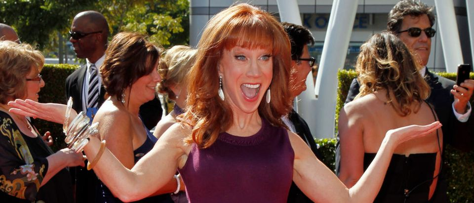 Comedian Kathy Griffin arrives at the 2012 Primetime Creative Arts Emmy Awards in Los Angeles September 15, 2012. REUTERS/Danny Moloshok