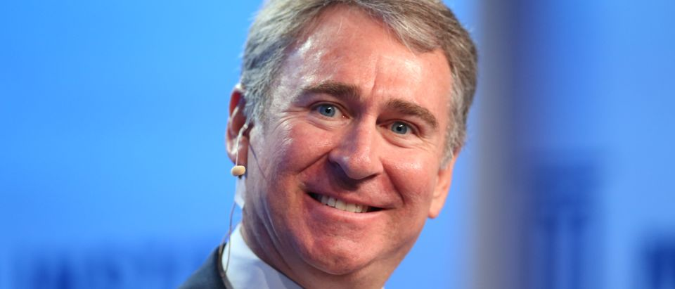 Ken Griffin, Founder and Chief Executive Officer of Citadel, speaks during the Milken Institute Global Conference in Beverly Hills