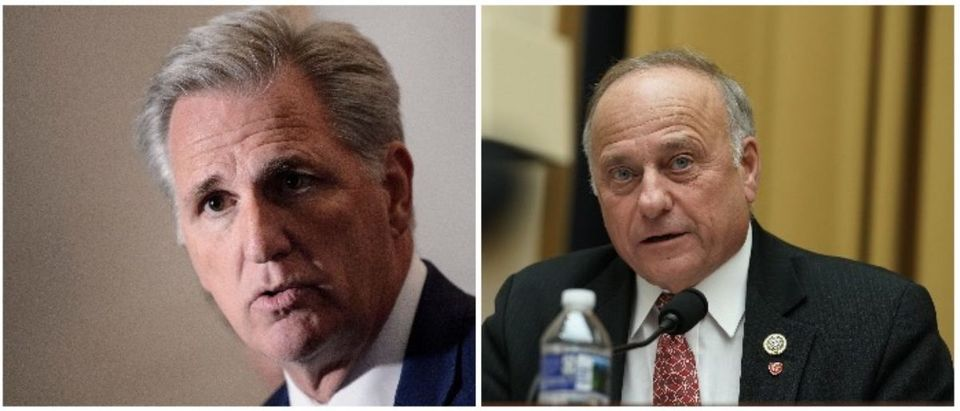 Kevin McCarthy and Steve King (LEFT: BRENDAN SMIALOWSKI:AFP:Getty Images RIGHT: Alex Wong:Getty Images)