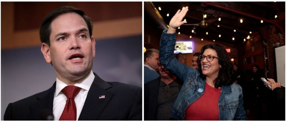 Marco Rubio and Rashida Tlaib (LEFT: Chip Somodevilla/Getty Images, RIGHT: REUTERS/Rebecca Cook)