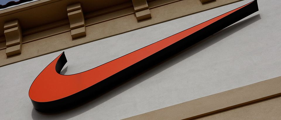 "ORLANDO, FL - DECEMBER 12: The ""Swoosh"" logo is seen on a Nike factory store on December 12, 2009 in Orlando, Florida. (Photo by Getty Images)"