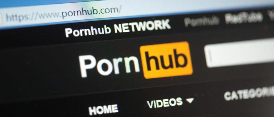 Pornhub logo (Credit: Shutterstock/Pe3k)