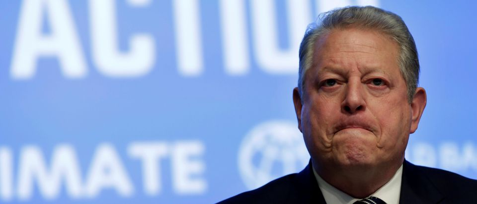 Former U.S. Vice President Al Gore attends Unlocking Financing for Climate Action session during the IMF/World Bank spring meetings in Washington, U.S., April 21, 2017. REUTERS/Yuri Gripas.