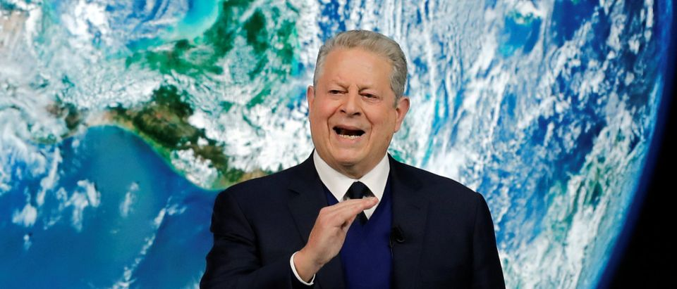 Al Gore, former U.S. Vice President and Climate Reality Project Chairman, speaks as he attends the World Economic Forum (WEF) annual meeting in Davos, Switzerland, January 22, 2019. REUTERS/Arnd Wiegmann