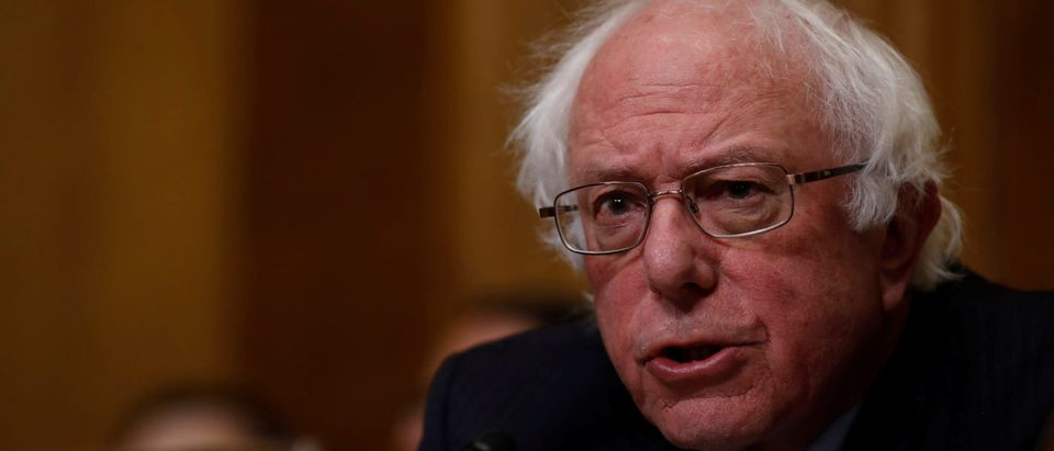 Sen. Bernie Sanders (I-VT) speaks before Office of Management and Budget Director Mick Mulvaney testifies about the President's 2019 budget before the Senate Budget Committee on Capitol Hill in Washington