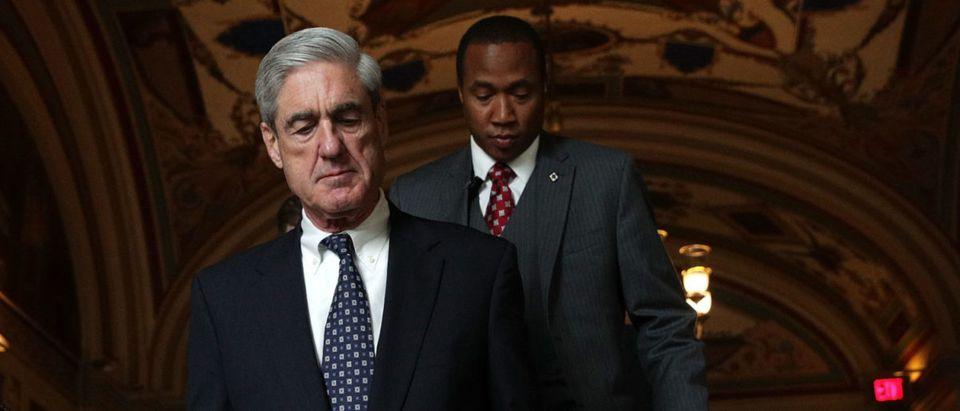Special counsel Robert Mueller arrives at the U.S. Capitol for closed meeting with members of the Senate Judiciary Committee. (Alex Wong/Getty Images)
