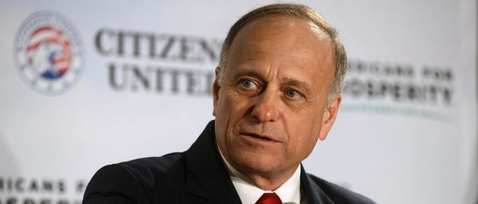 Rep. Steve King speaks at the Freedom Summit. (Darren McCollester/Getty Images)