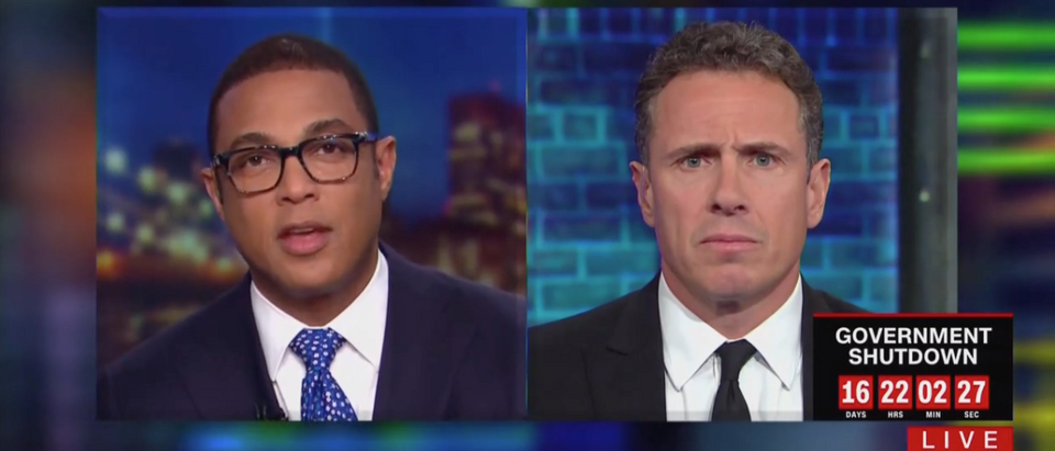Don Lemon and Chris Cuomo (CNN Screenshot: January 8, 2019)
