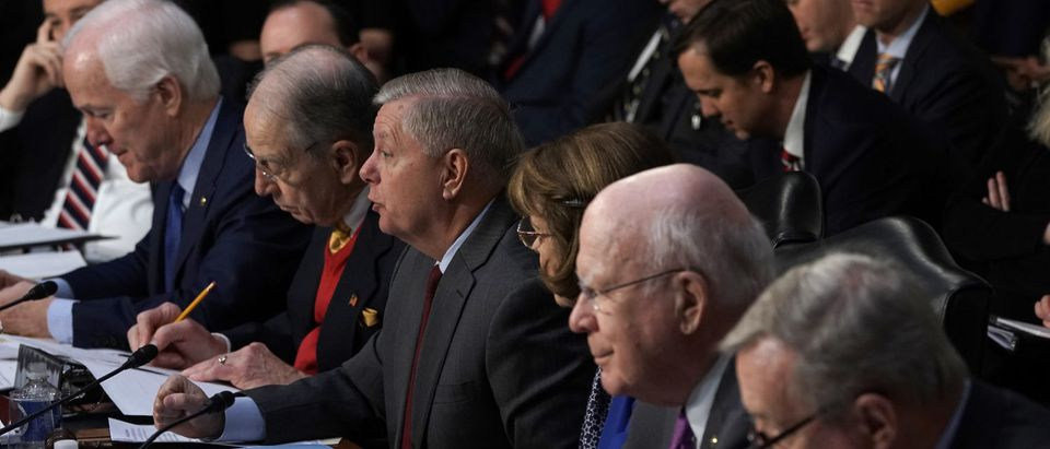Senate Judiciary Committee Chairman Lindsey Graham (R-SC) chairs the confirmation hearing of U.S. Attorney General nominee William Barr on January 15, 2019. (Alex Wong/Getty Images)