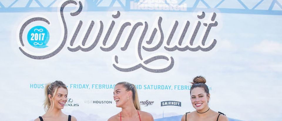 Swimsuit models Hailey Clauson, Nina Agdal, and Ashley Graham speak during a panel at the VIBES by Sports Illustrated Swimsuit 2017 launch festival on February 18, 2017 in Houston, Texas. (Photo by Rick Kern/Getty Images for Sports Illustrated)