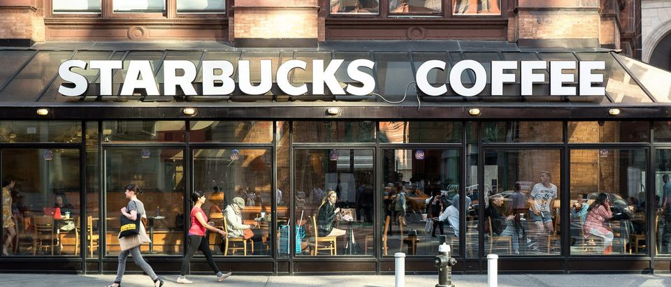 Starbucks storefront in New York City. (Shutterstock/poi3)