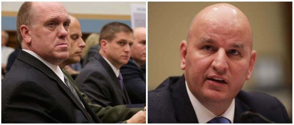 Tom Homan and Brandon Judd (LEFT: Chip Somodevilla/Getty Images RIGHT: Alex Wong/Getty Images)