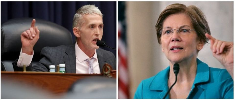 Trey Gowdy and Elizabeth Warren (LEFT: Chip Somodevilla/Getty Images RIGHT: Chip Somodevilla/Getty Images)