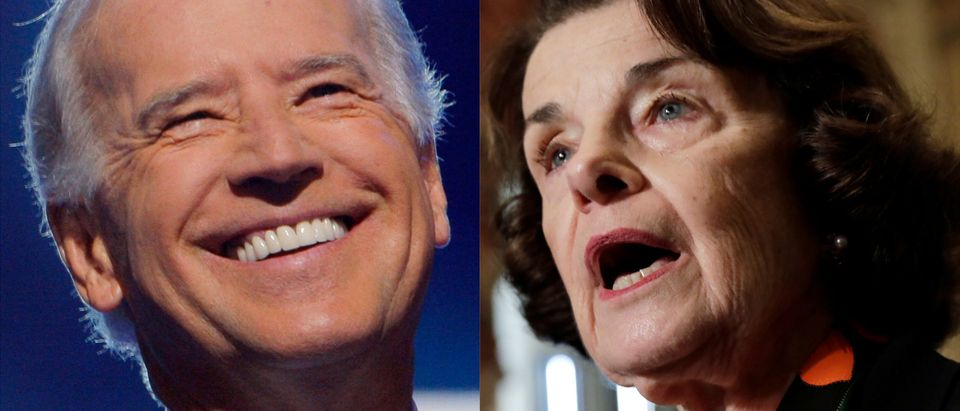 Feinstein Endorses Joe Biden For 2020/ Getty Images Collage