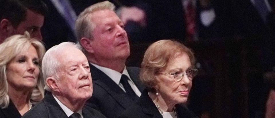 Jimmy Carter At Bush Funeral