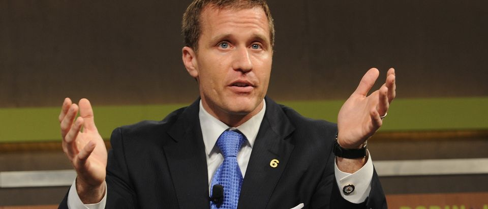 Eric Greitens Founder and CEO, The Mission Continues speaks at the Robin Hood Veterans Summit at Intrepid Sea-Air-Space Museum on May 7, 2012 in New York City. Craig Barritt/Getty Images