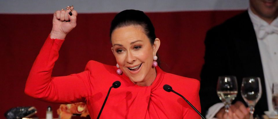 Actress Patricia Heaton emcees at the 72nd Annual Alfred E. Smith Memorial Foundation Dinner in Manhattan, New York