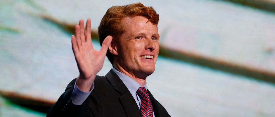 U.S. congressional candidate for Massachusetts Joe Kennedy III acknowledges applause before addressing the first session of the Democratic National Convention in Charlotte, North Carolina, Sept. 4, 2012. REUTERS/Eric Thayer
