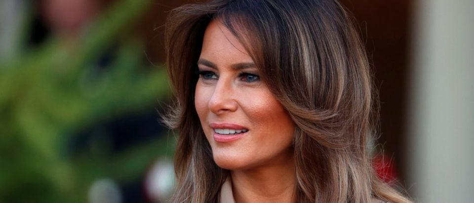 U.S. First Lady Melania Trump is pictured as she arrives at the State House in Lilongwe, Malawi, October 4, 2018. REUTERS/Carlo Allegri