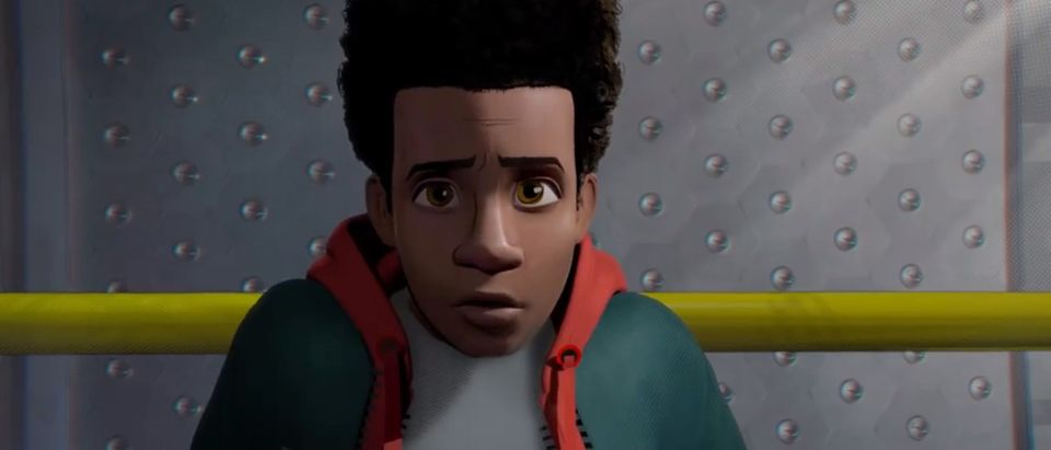 Miles Morales is Spider Man. Screen Shot/YouTube/Sony Pictures Entertainment