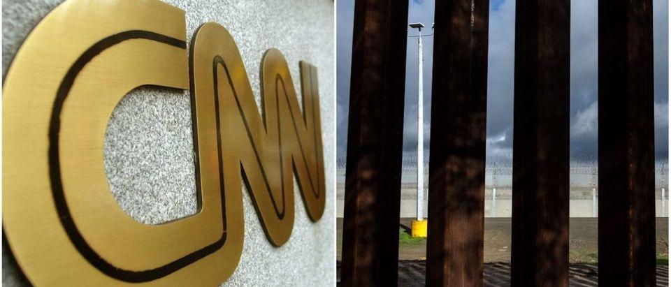 CNN Logo and San Diego Border Wall (Getty Images)