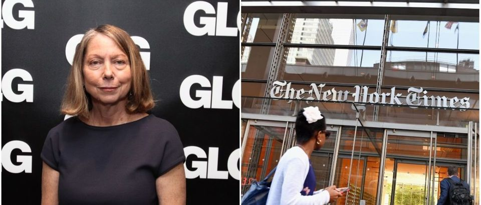 Left: Former NYT Editor Jill Abramson (Getty Images), Right: The New York Times HQ (Getty Images)