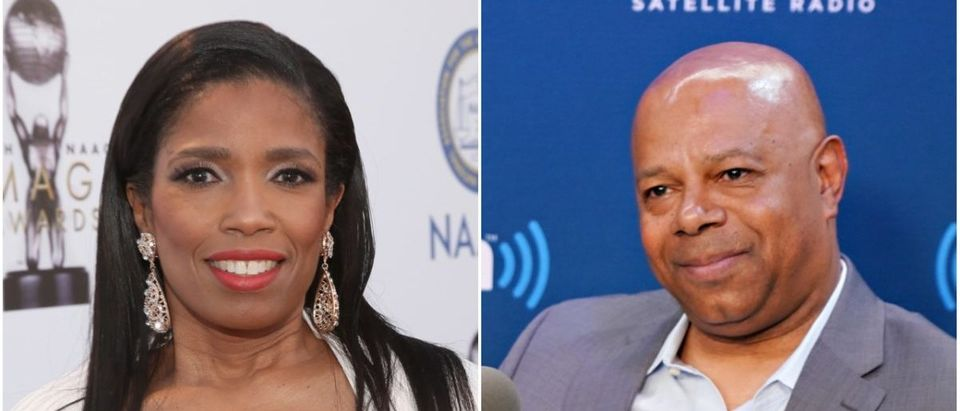 Left: CNN Analyst Areva Martin (Getty Images), Right: David Webb (Getty Images)