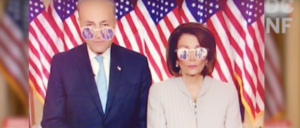 Schumer and Pelosi respond to Trump's address (YouTube screenshot/DCNF)