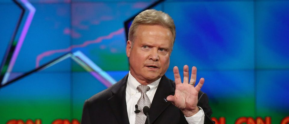 Democratic presidential candidate Jim Webb takes part in a presidential debate sponsored by CNN and Facebook at Wynn Las Vegas on October 13, 2015 in Las Vegas, Nevada. Five Democratic presidential candidates are participating in the party's first presidential debate. Joe Raedle/Getty Images
