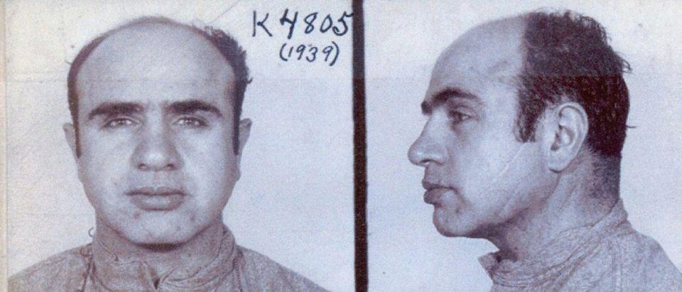 Al Capone's FBI mugshot is pictured. (Courtesy of the FBI)