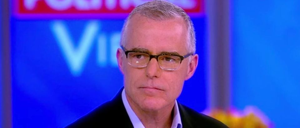 "Andrew McCabe on ""The View,"" Feb. 19, 2019. (YouTube screen grab/The View)"