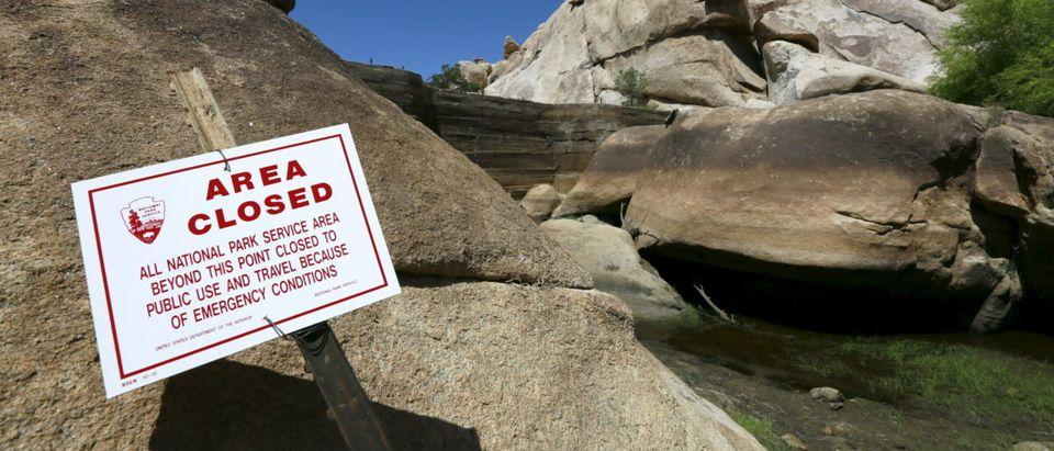 The Barker Dam in Joshua Tree National Park in Joshua Tree, California is shown in this photo taken April 16, 2015. REUTERS/Sam Mircovich