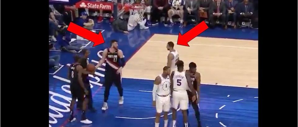 Ben Simmons (Credit: Screenshot/Twitter Video https://twitter.com/barstoolsports/status/1099397425712762880)